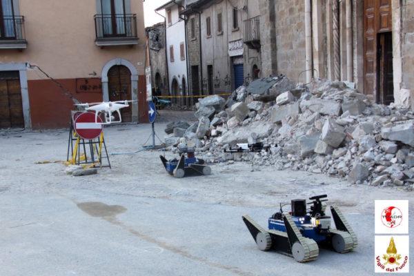 Terremoto centro italia: robot e droni impiegati nella messa in sicurezza dei monumenti
