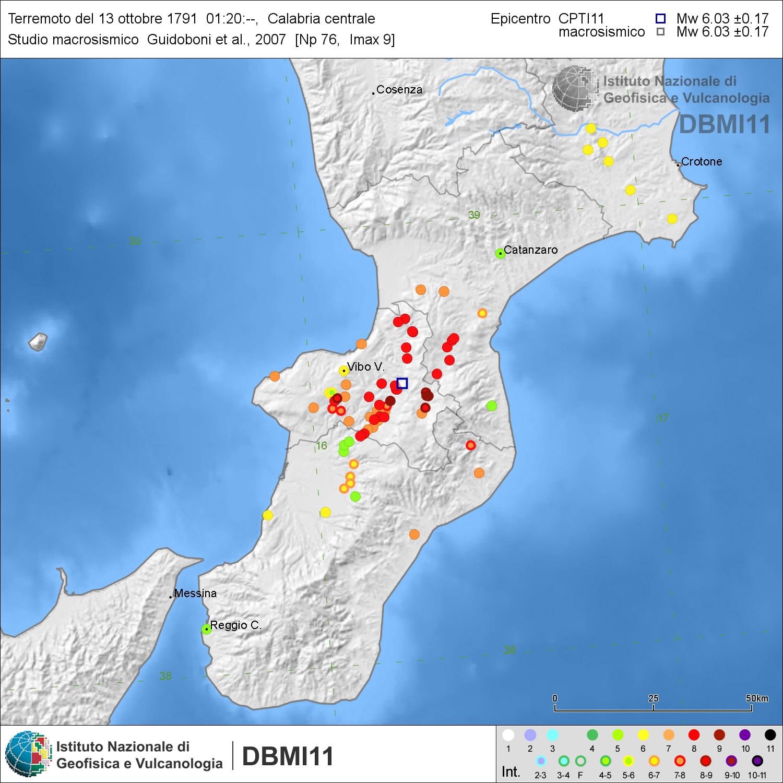 Accadde oggi: terremoto in calabria centrale, 13 ottobre 1791