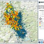 SEQUENZA SISMICA ITALIA CENTRALE, INGV: 720 EVENTI DA IERI, 18 DI MAGNITUDO FRA 4.0 E 5.0