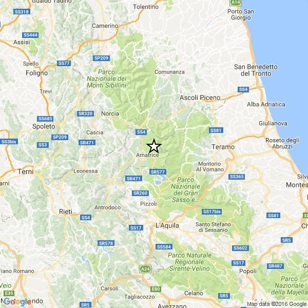 Terremoto centro italia: continua lo sciame sismico, nella notte scossa m.3,3 ad amatrice