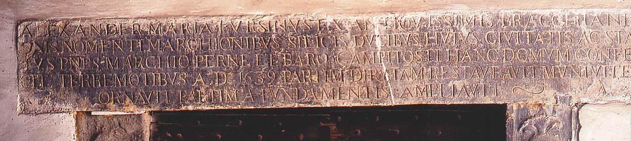 Tracce dal passato: amatrice, 7 ottobre 1639, commemorazione di restauro