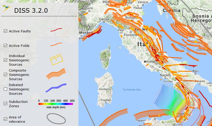 Cartina Italia Interattiva Html.Ingv Mappa Interattiva Delle Faglie Italiane