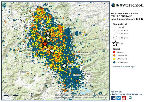 Sequenza sismica in Italia centrale: aggiornamento, 6 novembre ore 17.00-media-1