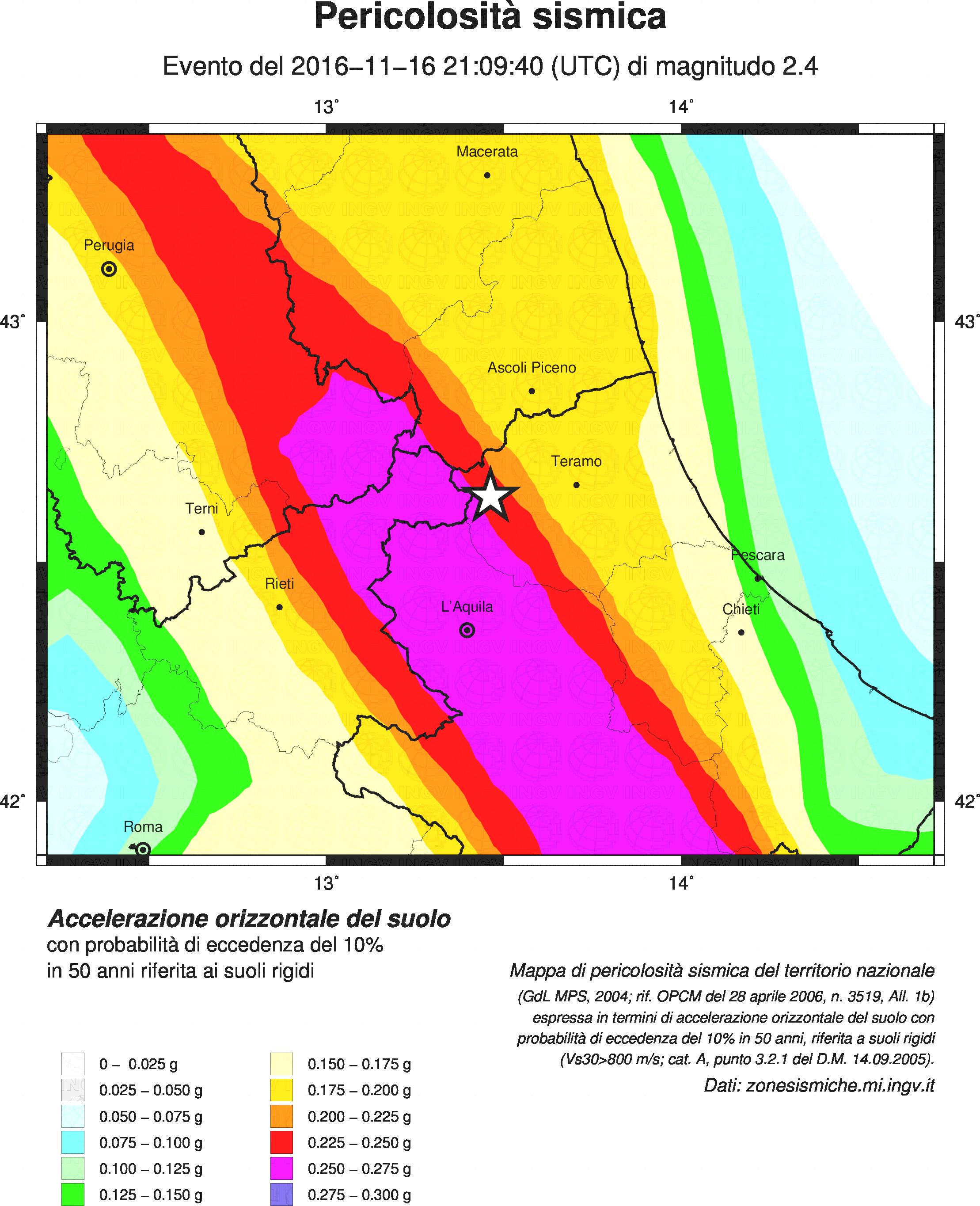 Terremoto: scossa magnitudo 2.4 a cortino (teramo)