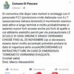 TERREMOTO, SCUOLE EVACUATE A PESCARA: LA BUFALA CORRE SU FACEBOOK
