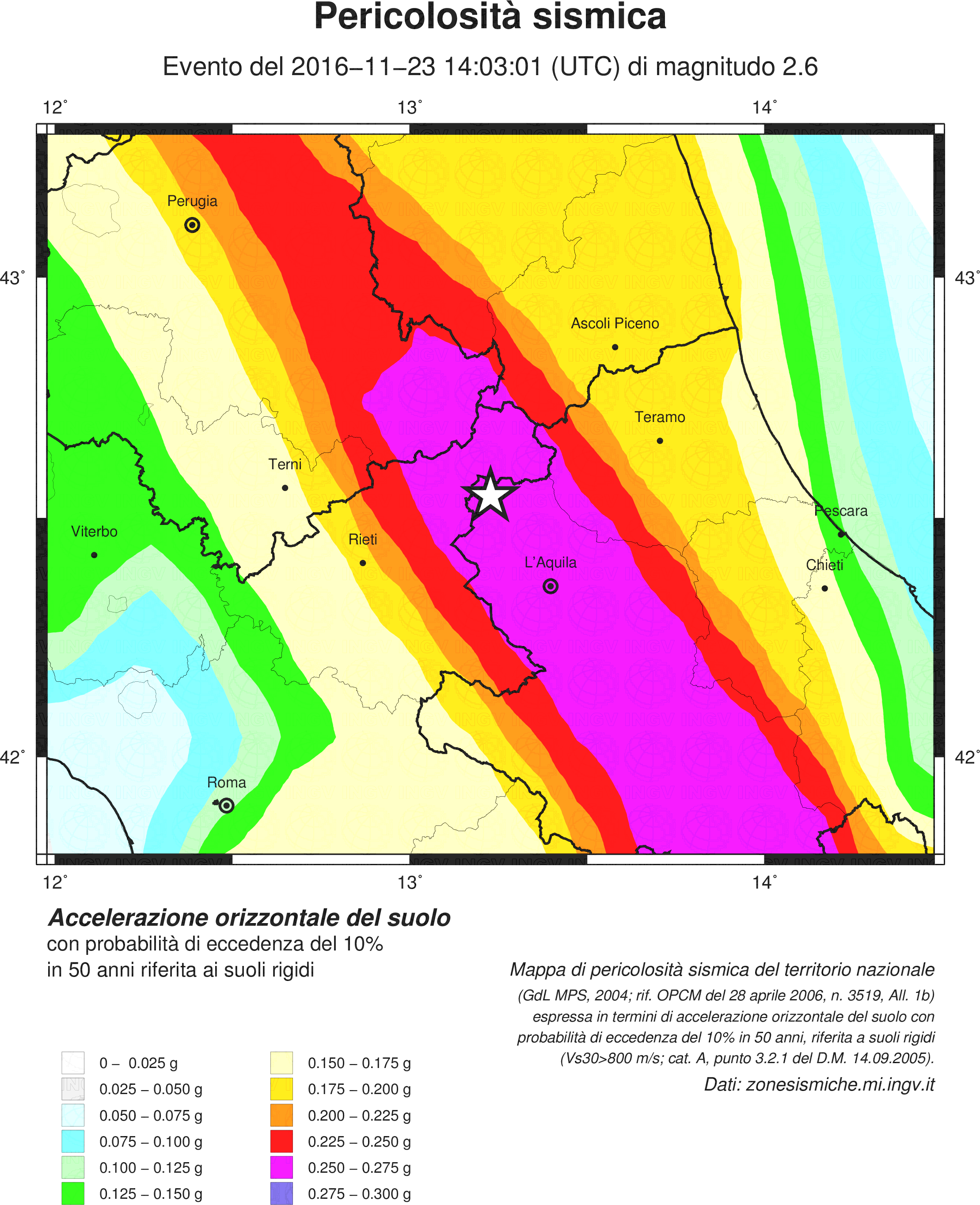 Montereale, scossa magnitudo 2.6