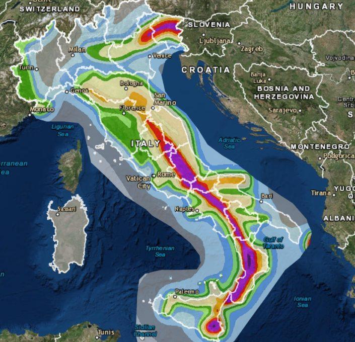 Ingv mappa interattiva pericolosita 39 sismica in italia for Mappa sismica italia