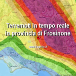 INGV: TERREMOTI IN TEMPO REALE IN PROVINCIA DI FROSINONE