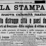 La prima pagina del quotidiano La Stampa del 14 gennaio 1915
