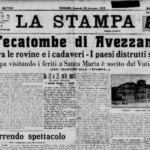 La prima pagina del quotidiano La Stampa del 15 gennaio 1915