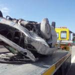 A25, AUTO SI RIBALTA IN GALLERIA: UN FERITO GRAVE, IL VIDEO DELLO SCHIANTO
